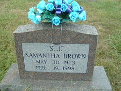 Samantha Jane S. J. <i>Smith</i> Brown