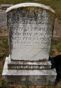 Mary Jane <i>Shumate</i> Absher