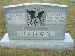Ruby E <i>Thompson</i> Brown