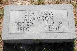 Ora Lessa Lessie Adamson