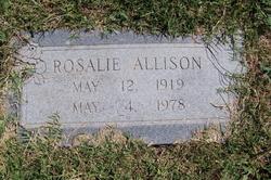 Rosa Lee Rosalie <i>Funderburg</i> Allison