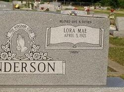 Lora Mae <i>Daniels</i> Anderson