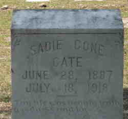 Sadie <i>Cone</i> Cate