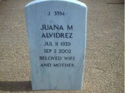 Juana <i>Macias</i> Alvidrez