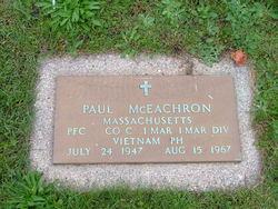 PFC Paul James McEachron