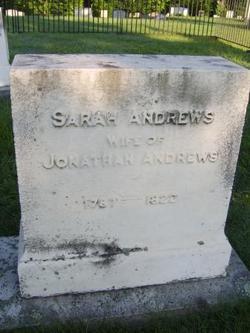 Sarah <i>Mathewson</i> Andrews