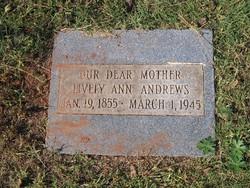 Lively Ann <i>Fisher</i> Andrews