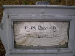 E. M. Brown