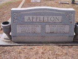 Edna Rebecca <i>Vance</i> Appleton
