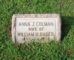 Anna J. <i>Colman</i> Baker