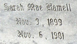 Sarah Mae <i>Hamell</i> Beam