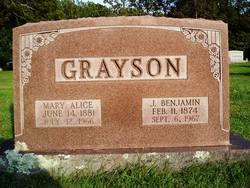 Mary Alice <i>Jackson</i> Grayson