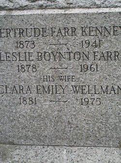 Clara Emily <i>Wellman</i> Farr