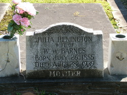 Julia Susannah <i>Henington</i> Barnes