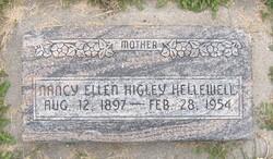 Nancy Ellen <i>Higley</i> Hellewell