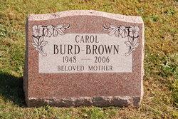 Carol <i>Burd</i> Brown