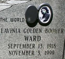 Lavinia Golden <i>Booher</i> Ward