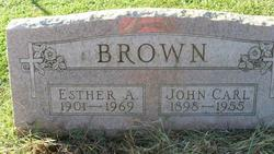 Esther A <i>Cyphert</i> Brown