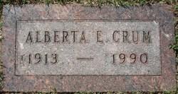 Alberta Ellen <i>Huddleston</i> Crum