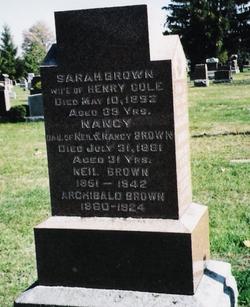Sarah <i>Brown</i> Cole
