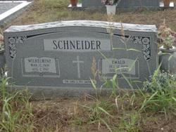 Wilhelmine Bertha <i>Vogel</i> Schneider
