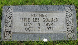 Effie Lee Golden