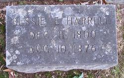 Elizabeth E Bessie <i>Rosser</i> Harrell