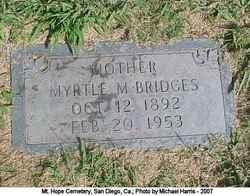 Myrtle Mary <i>Cartwright</i> Bridges