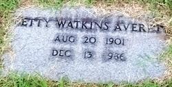 Betty <i>Watkins</i> Averett