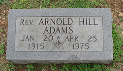 Rev Arnold Hill Adams