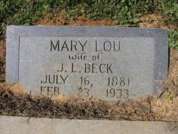 Mary Lou <i>Everhart</i> Beck