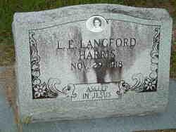 L. E. <i>Langford</i> Harris