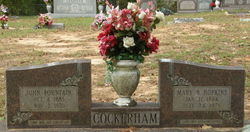 Mary Bertha <i>Hopkins</i> Cockerham