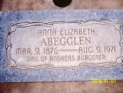 Anna Elizabeth <i>Burgener</i> Abegglen