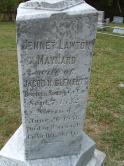Jennet Laughton <i>Maynard</i> Clements