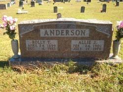 Allie Jane <i>Huskey</i> Anderson