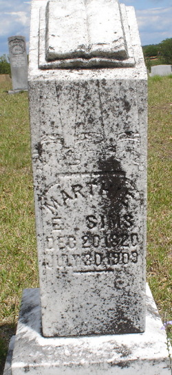 Martha Evaline Martie <i>Morris</i> Sims