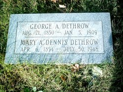 Mary A. <i>Dennis</i> Dethrow