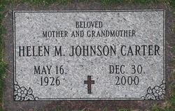 Helen M <i>Johnson</i> Carter