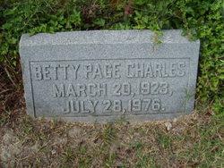 Betty <i>Page</i> Charles