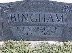 Pvt Clarence F. Bingham