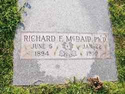 Dr Richard F McDaid, Ph. D