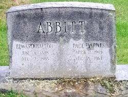 Elizabeth Pace <i>Barnes</i> Abbitt