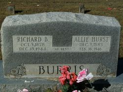 Alice Jane Allie <i>Hurst</i> Burris