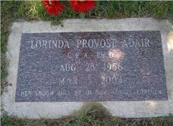 Dr Lorinda Jean <i>Provost</i> Sharp Adair