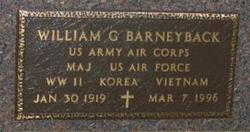 Maj William G. Barneyback