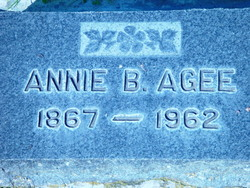 Anna Belle Annie <i>Sharp</i> Agee