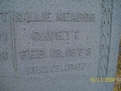 Sallie <i>Meador</i> Cavett