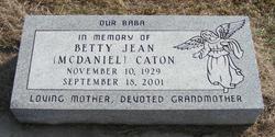 Betty Jean <i>McDaniel</i> Caton