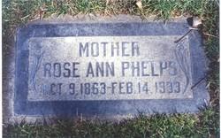 Rose Ann <i>Williams</i> Phelps